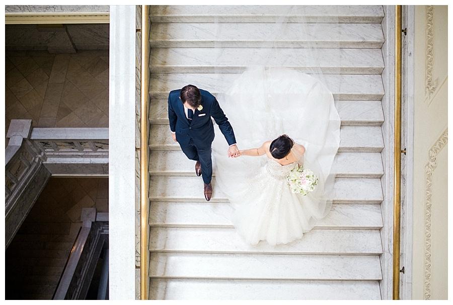 bridal party photos at the Wisconsin Historical Society