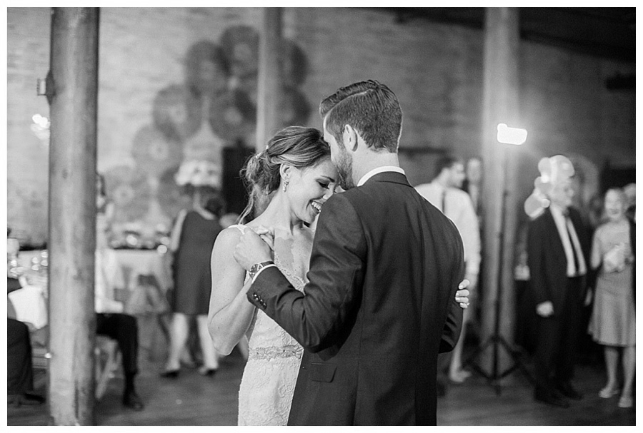 bride and groom first dance at the Pritzlaff in Milwaukee