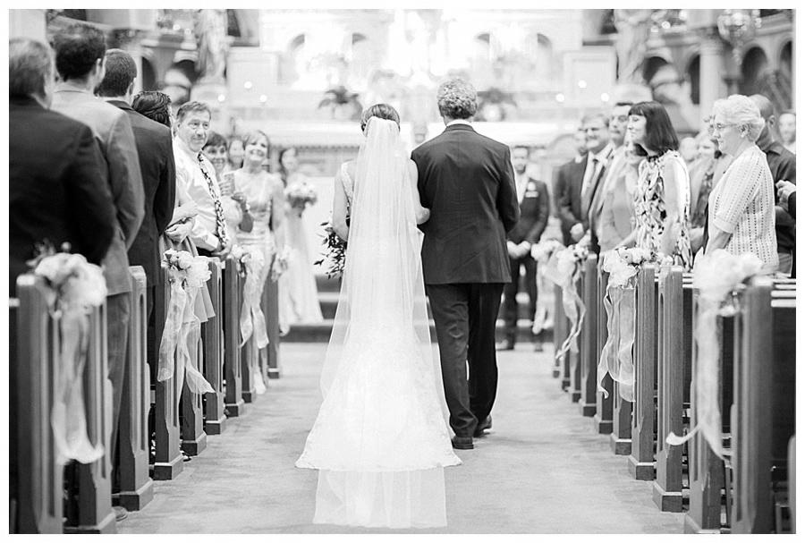 Catholic wedding ceremony at Old St. Mary's, Milwaukee