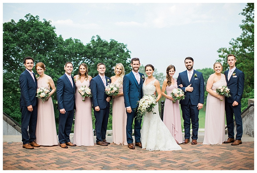 Bridal party photos at Lake Park Bistro in Milwaukee