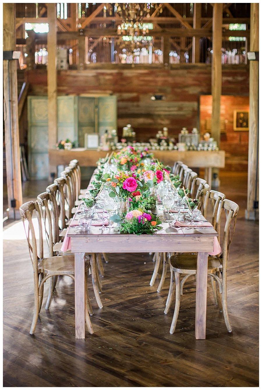 farm to table style wedding reception at the Farm at Dover