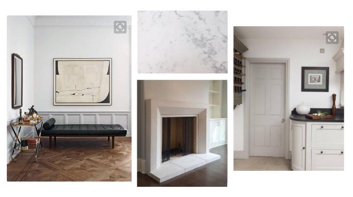 scandinavian inspired interior design moodboard