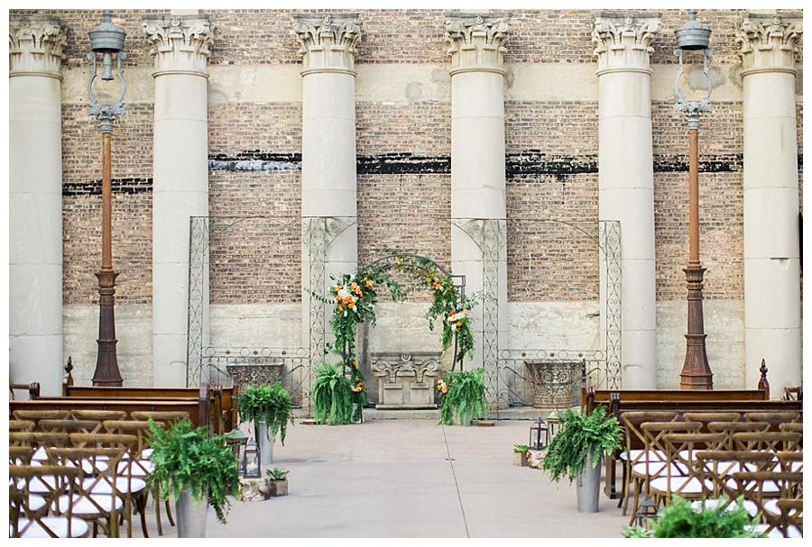 Outdoor wedding ceremony at Artifact Events, planned by Shannon Gail Weddings