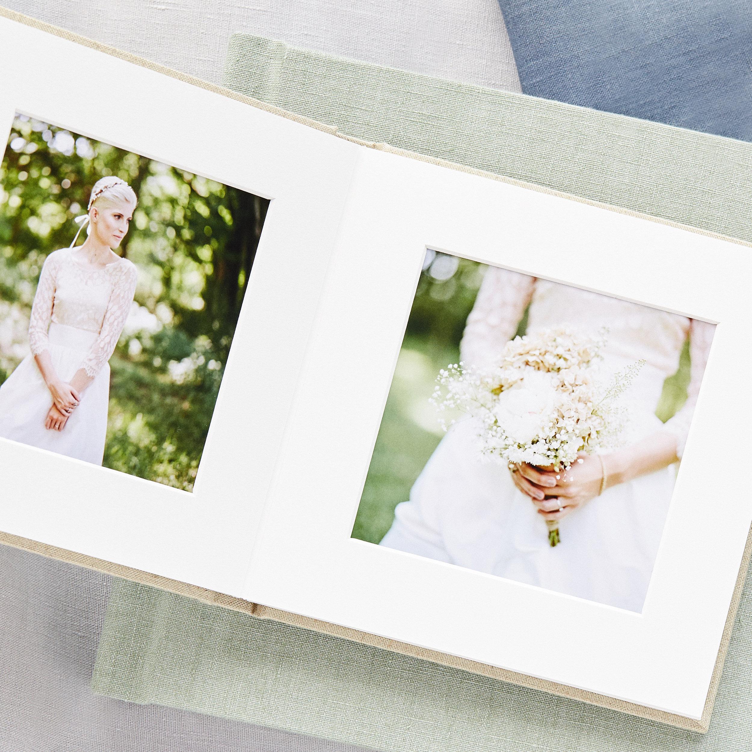 photographic printing in flush mount wedding album