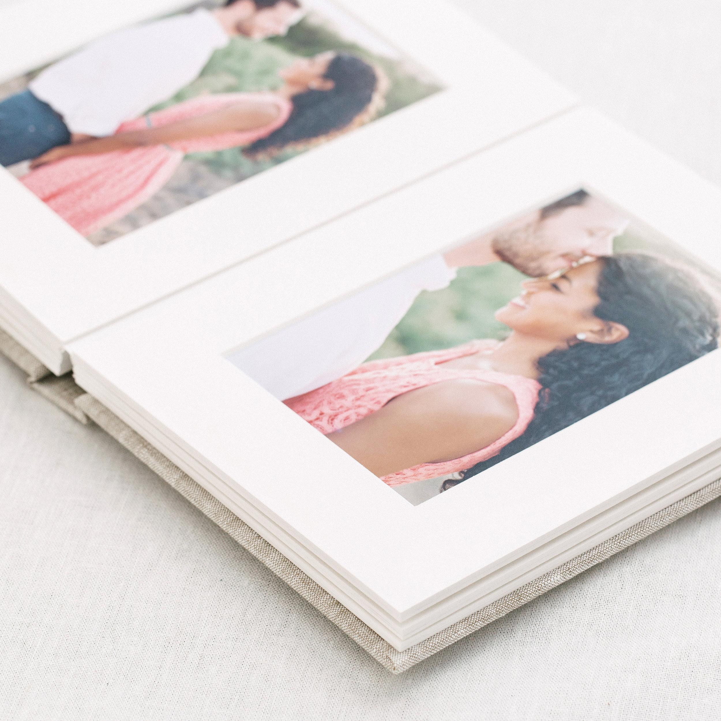 photographic printing for flush mount wedding album