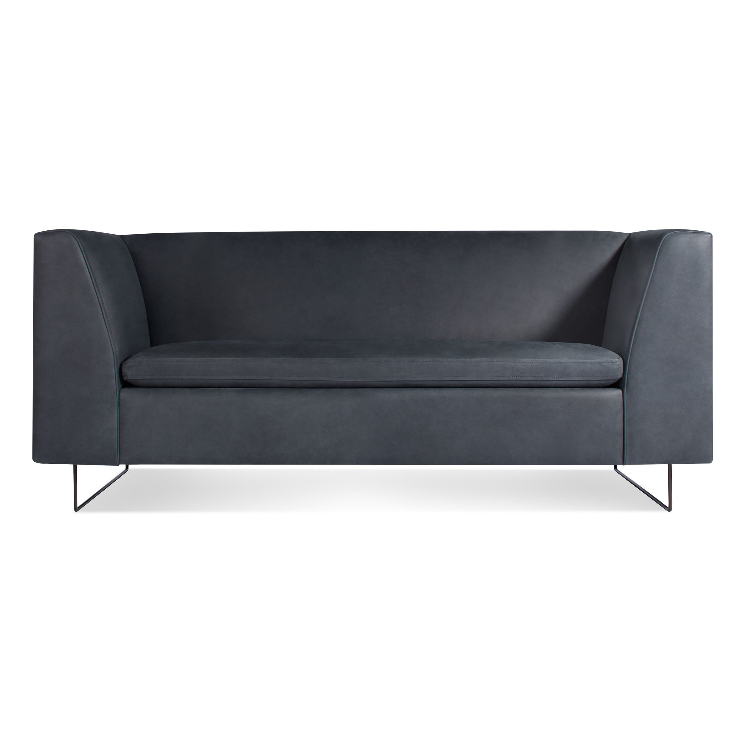 Bonnie 72 Leather Sofa By Blu Dot