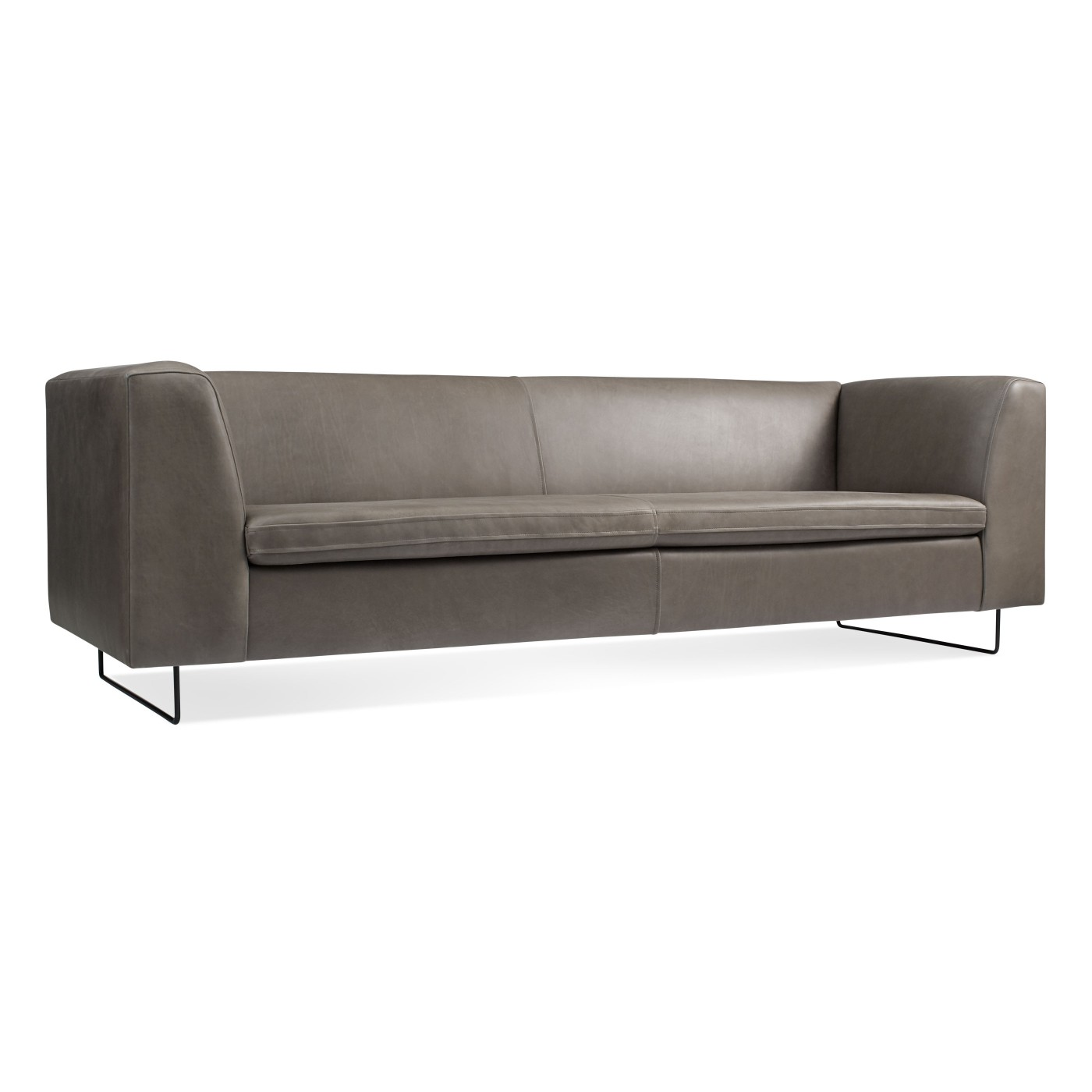 Bonnie 96 Leather Sofa By Blu Dot