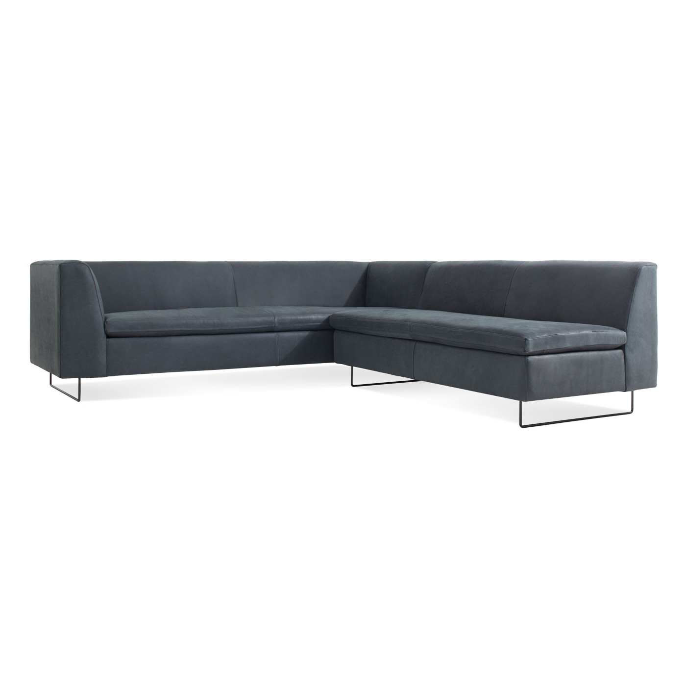 Bonnie and Clyde Leather Sectional Sofa by Blu Dot — Hub Modern Home +  GiftPost — Hub Modern Home + Gift