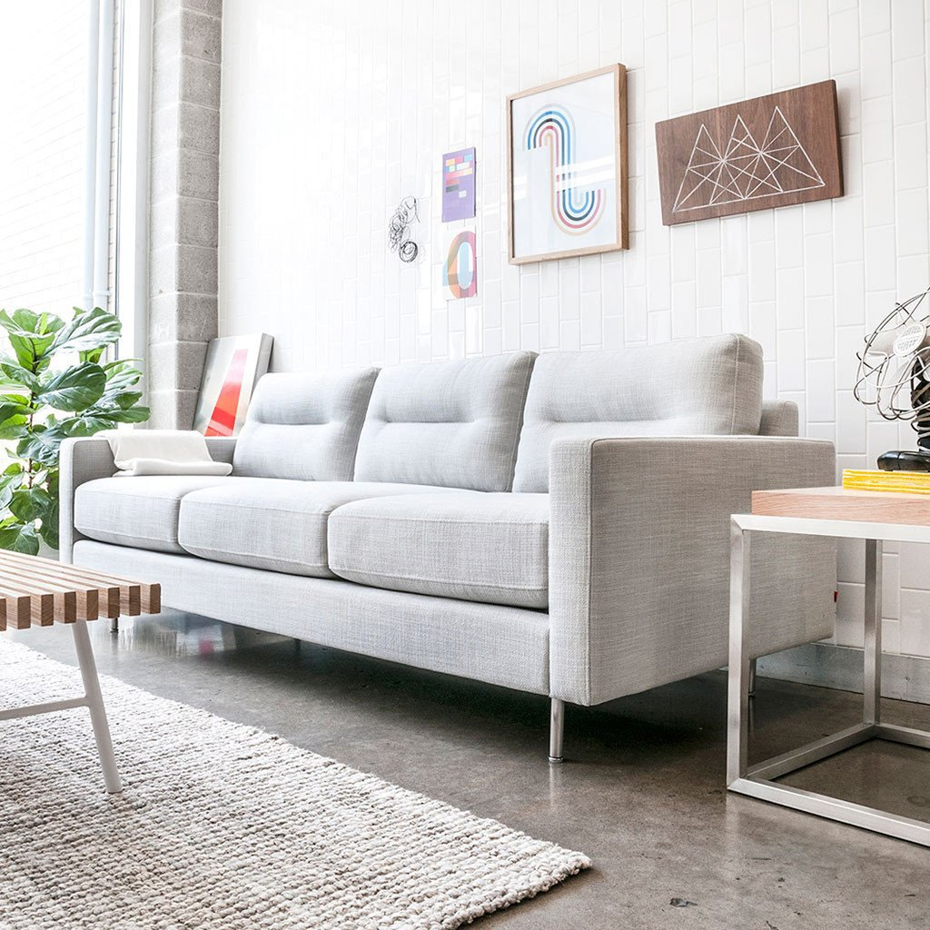 Logan Sofa Stainless Base By Gus