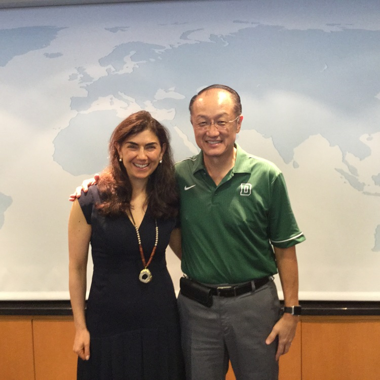 Alisa and Dr. Kim of the Advisory Group of the World Bank