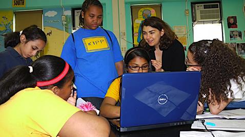 Alisa at KIPP.JPG