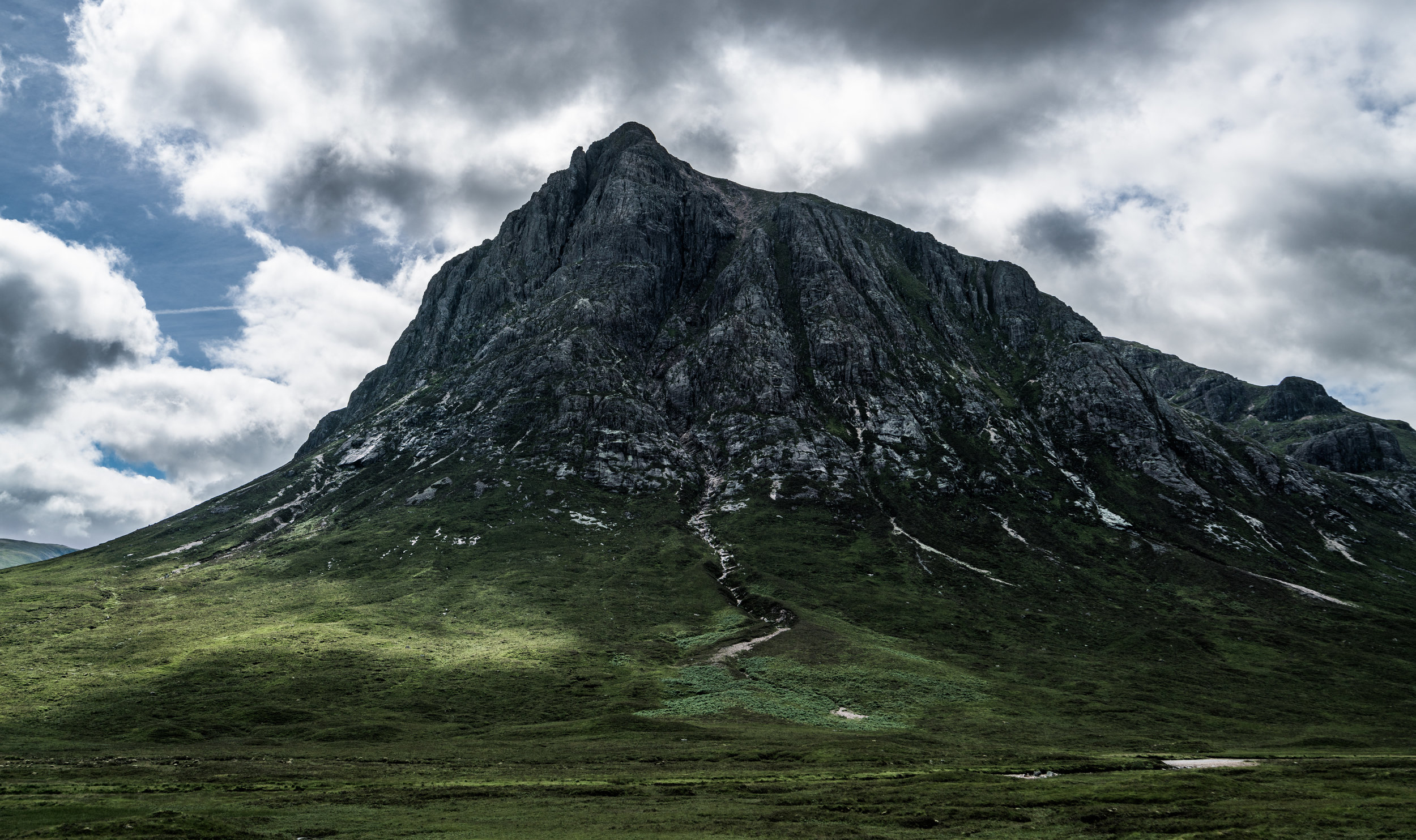 Scottish mountain scene along the A82/A87 Glencoe/Isle of Skye road