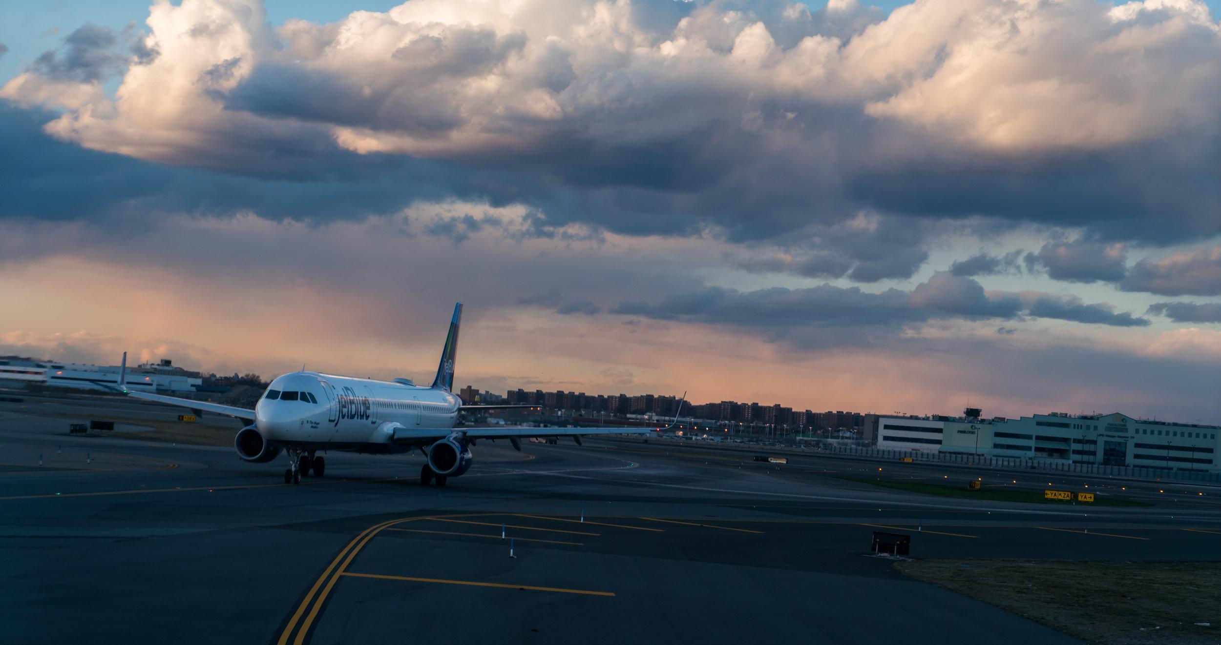JetBlue sunset at JFK