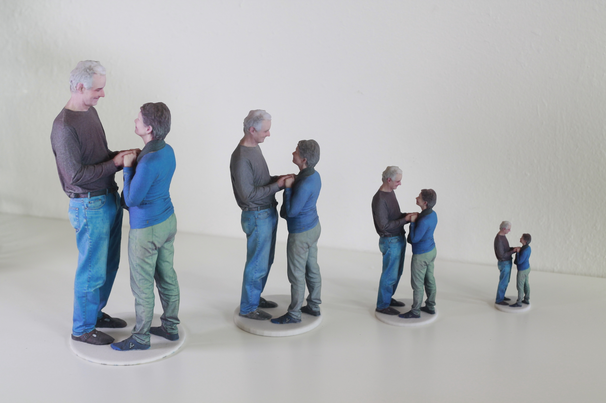 """The sculptures (figurines) shown above are in 3"""", 5"""", 7"""", and 9""""."""