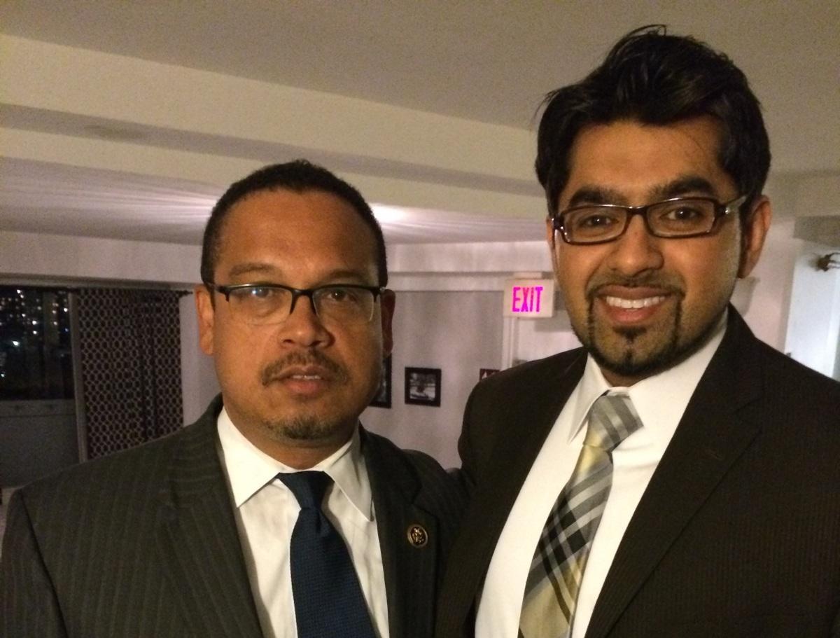 Dr. Chaudhry with Congressman Ellison