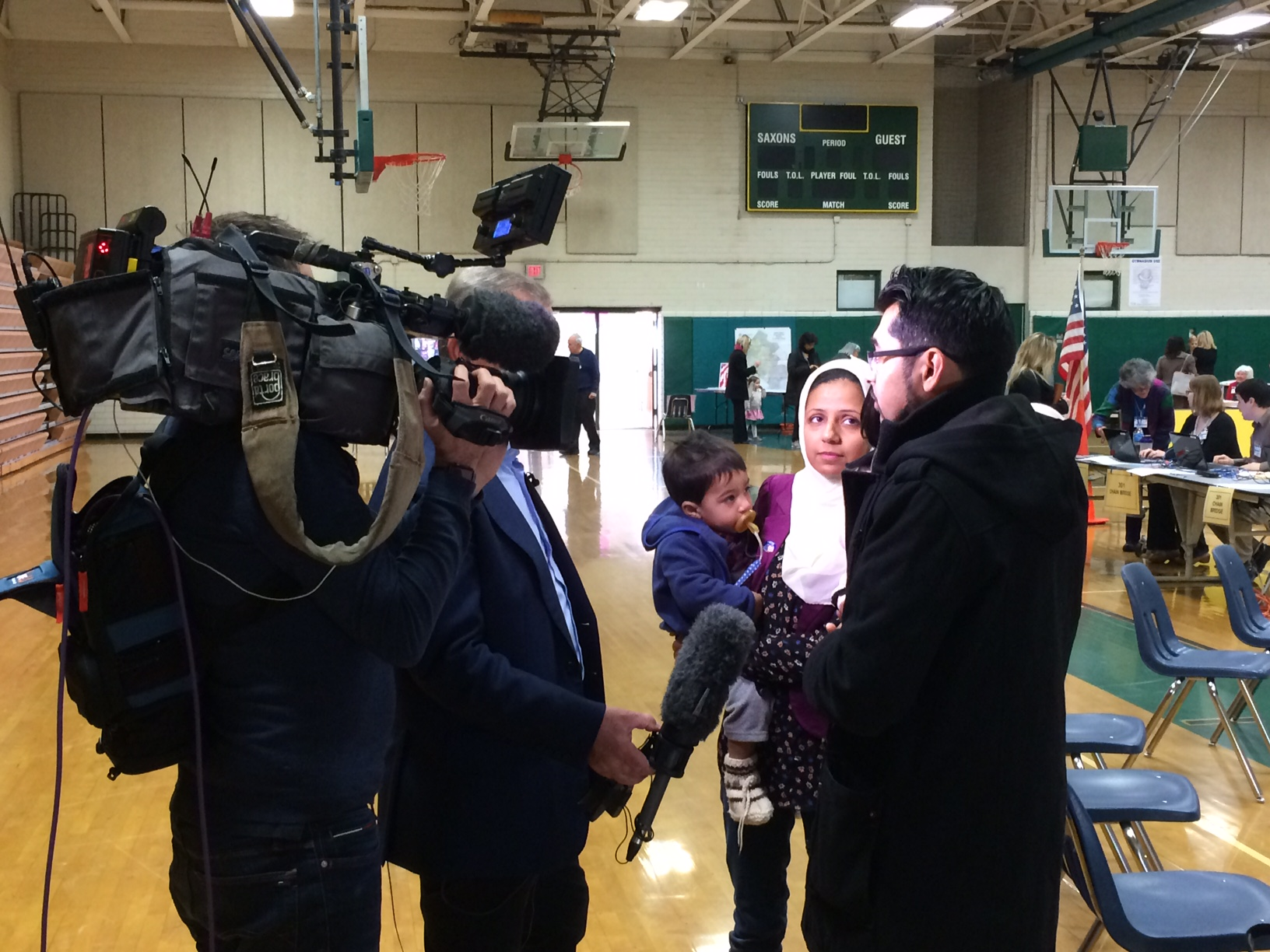 Dr. Chaudhry, with his wife and kids, interviews with SKYNews