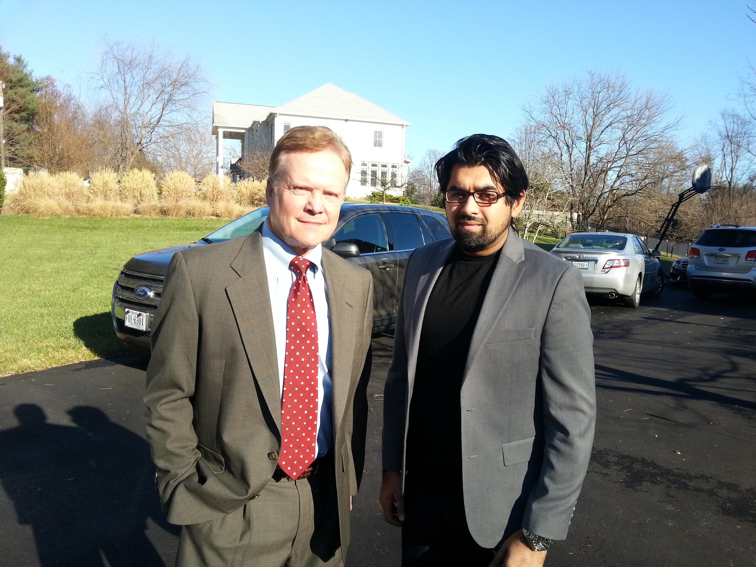 Dr. Chaudhry with Senator Jim Webb