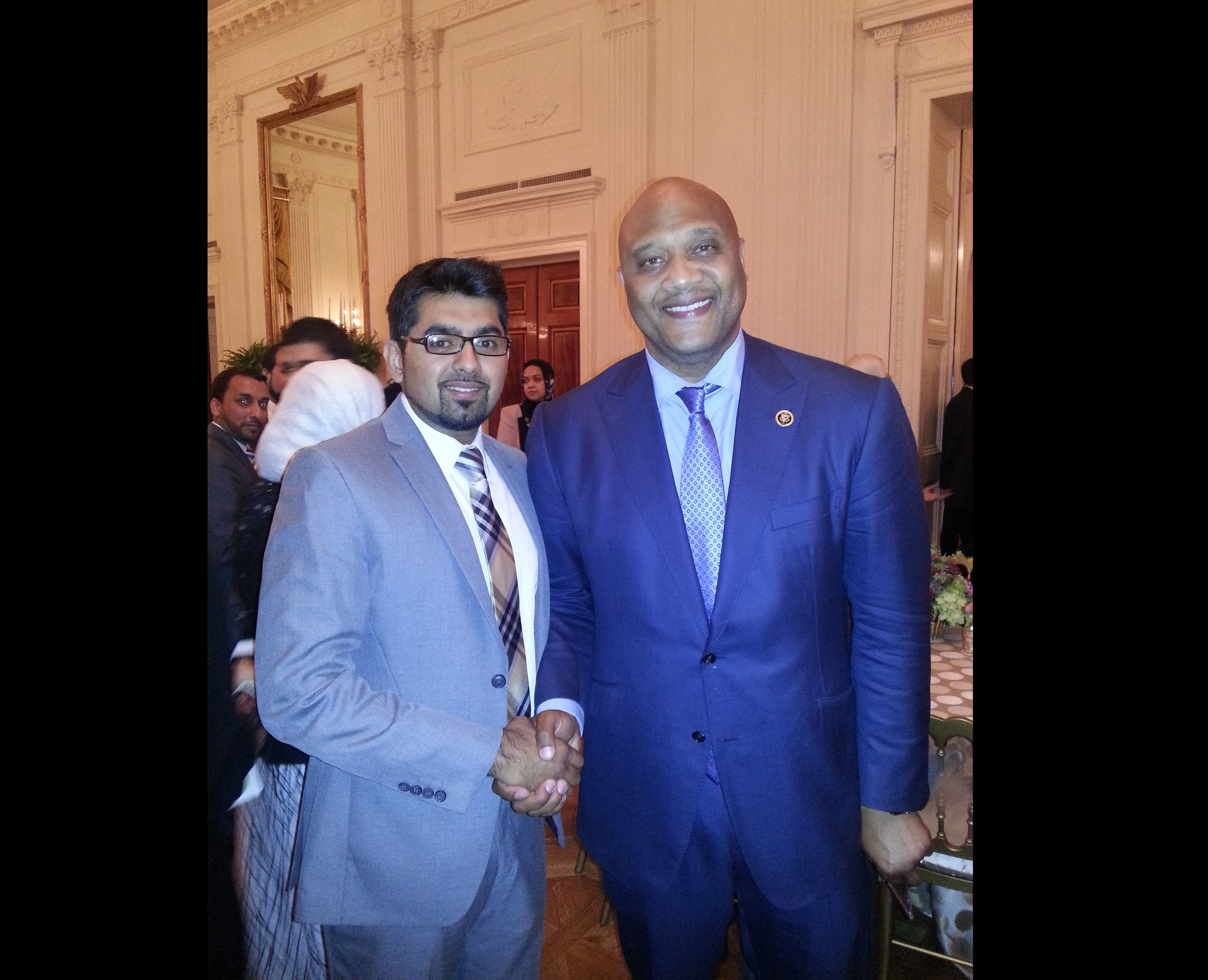 Dr. Chaudhry with Congressman Carson