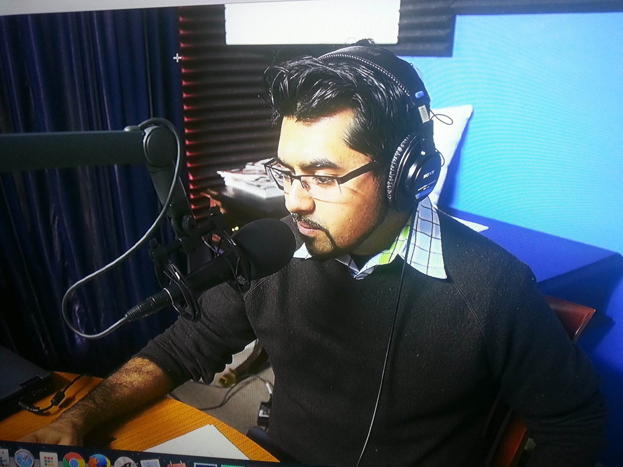 """Dr. Chaudhry during his 30-minute interview on the international radio show """"Your Health"""""""