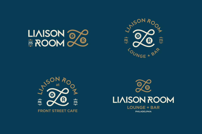 Liaison Room visual identity logo lockups