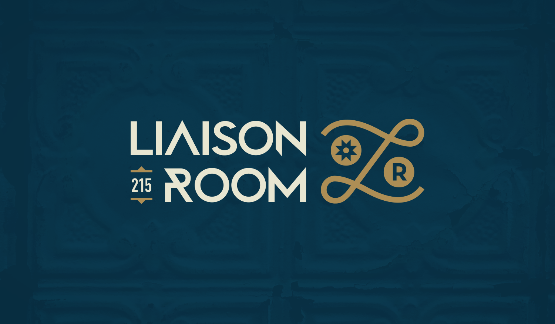 Liaison Room visual identity logo lockup