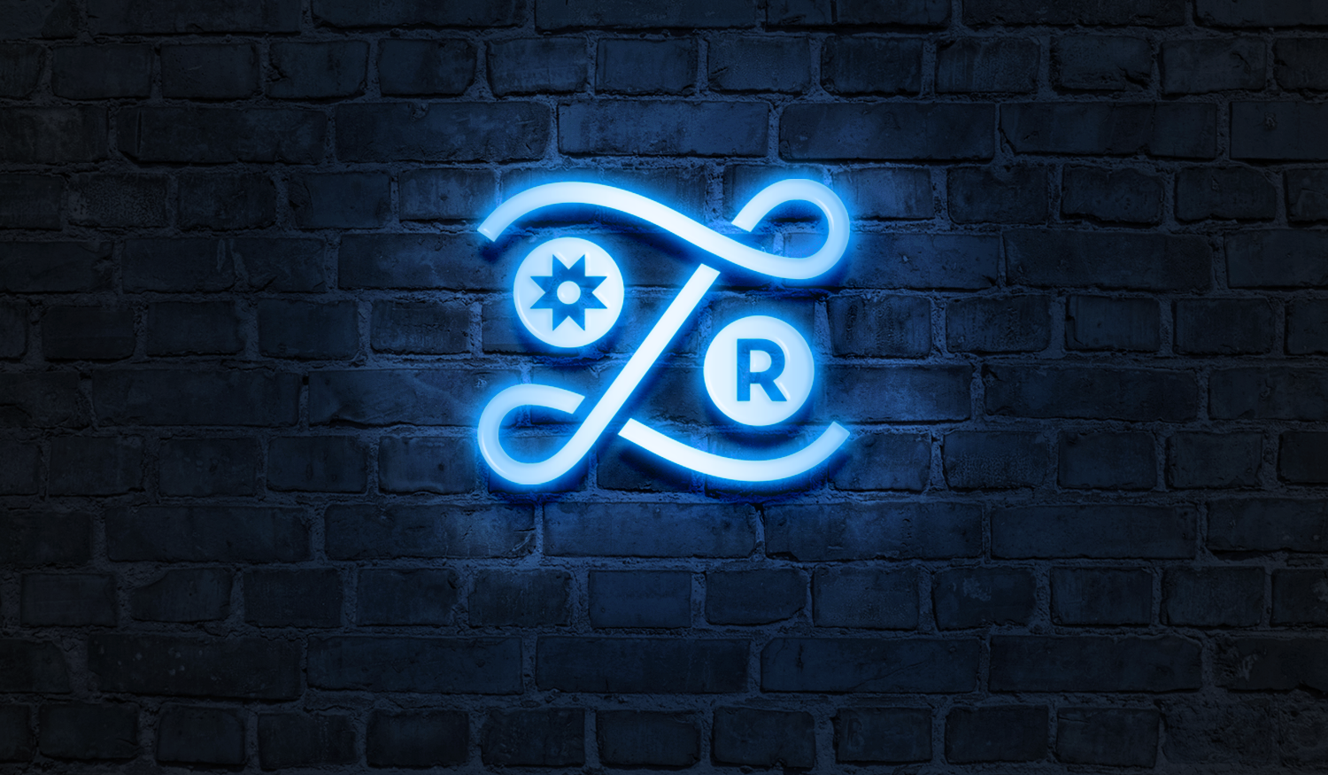 Liaison Room visual identity neon sign