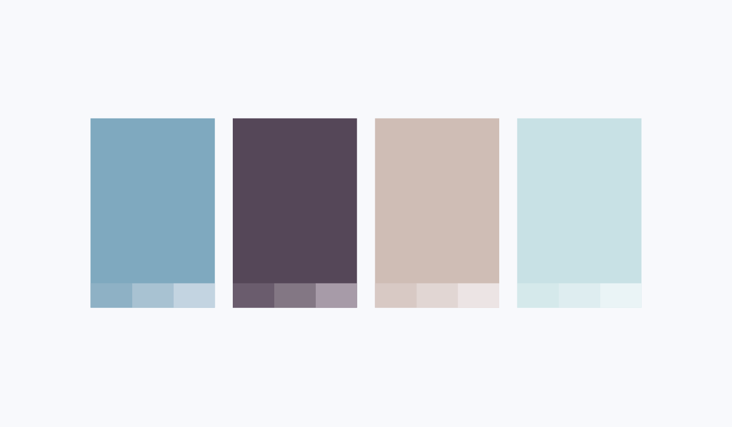 Pacific at Home visual identity color palette