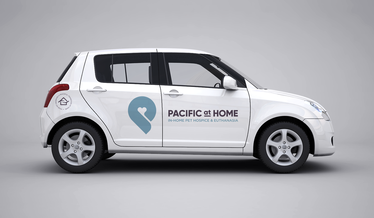 Pacific at Home visual identity vehicle wrap