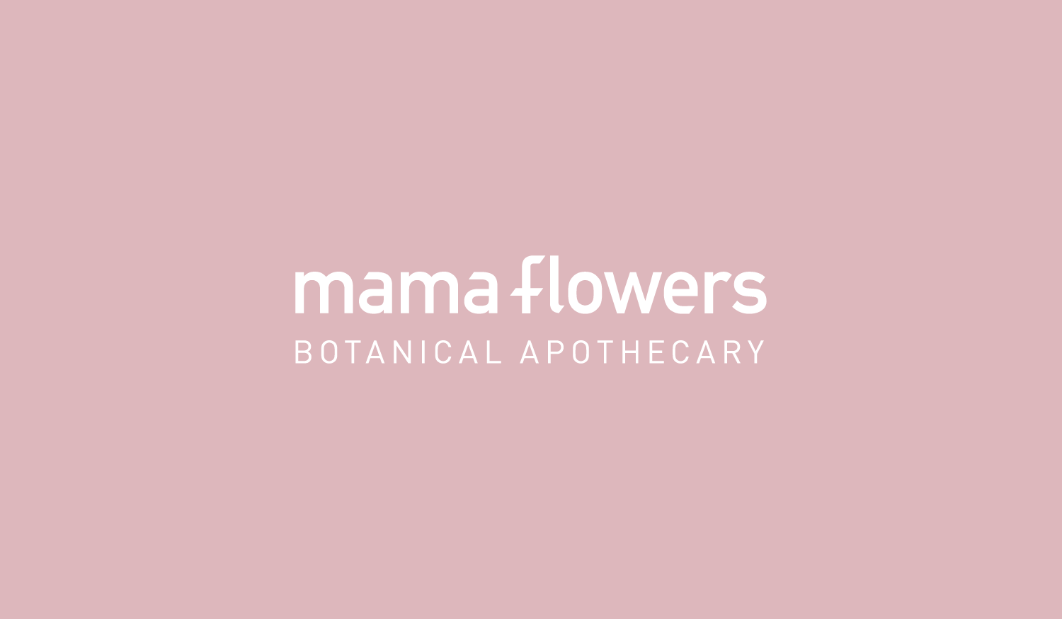 Mama Flowers visual identity logotype