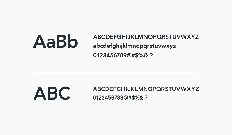 Aries visual identity typefaces