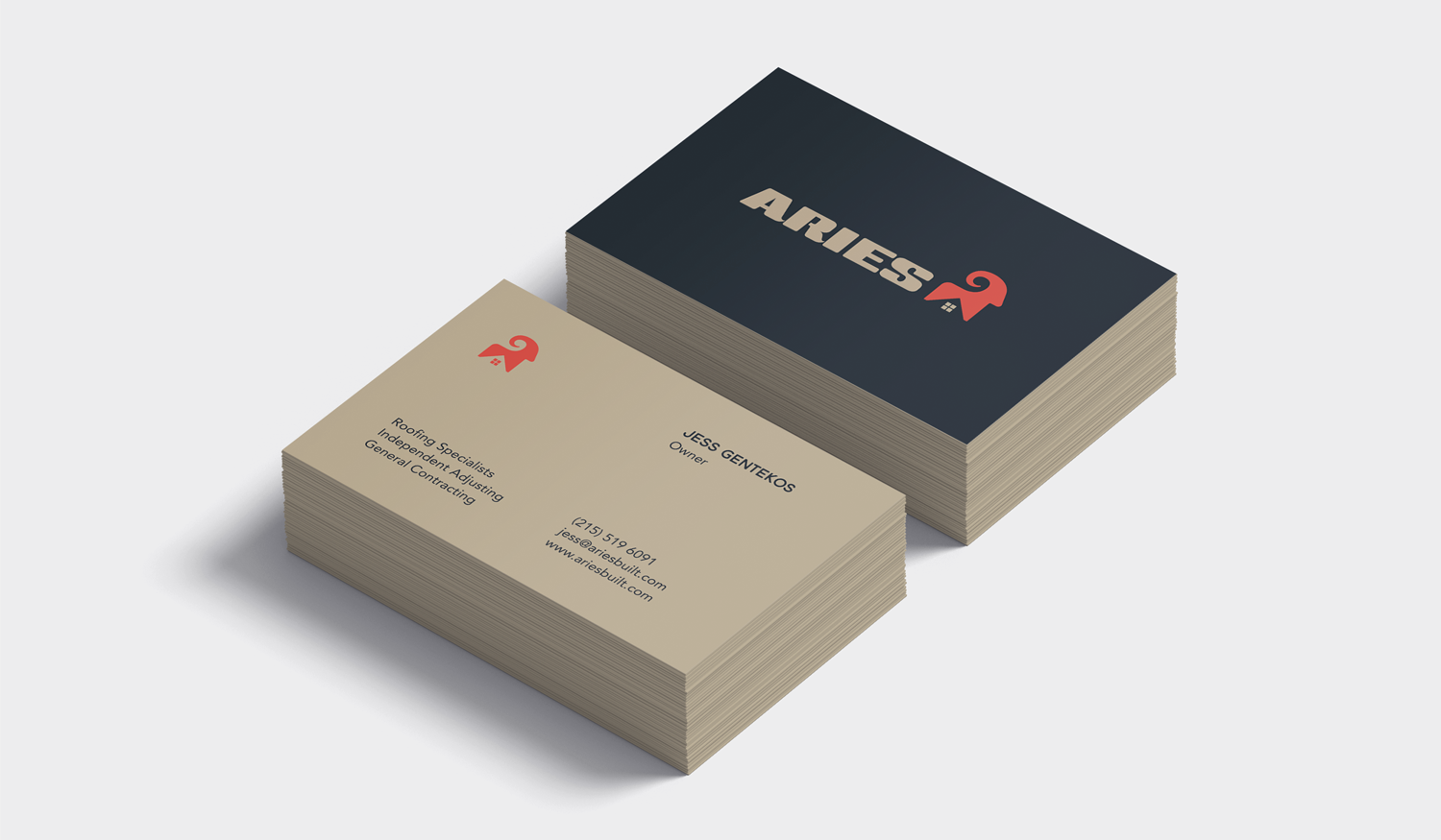 Aries visual identity business card design