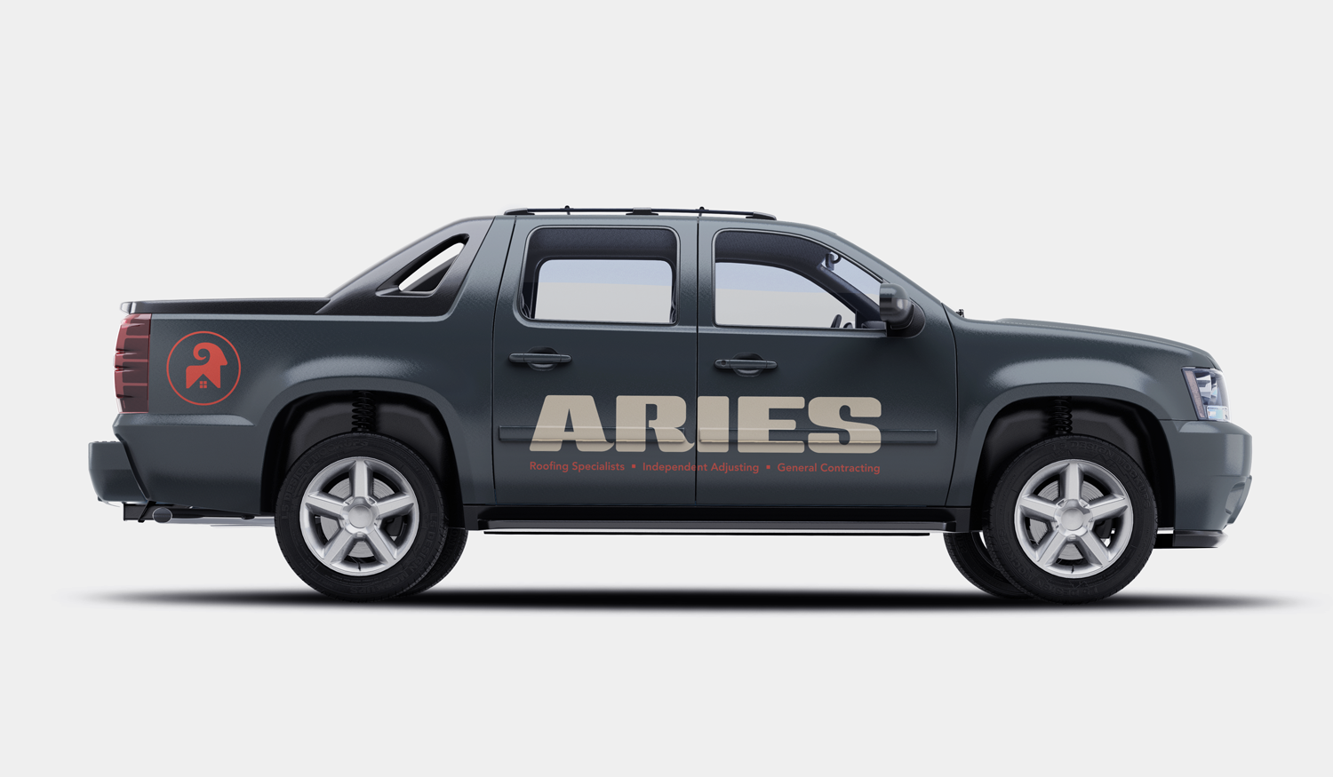 Aries visual identity truck wrap
