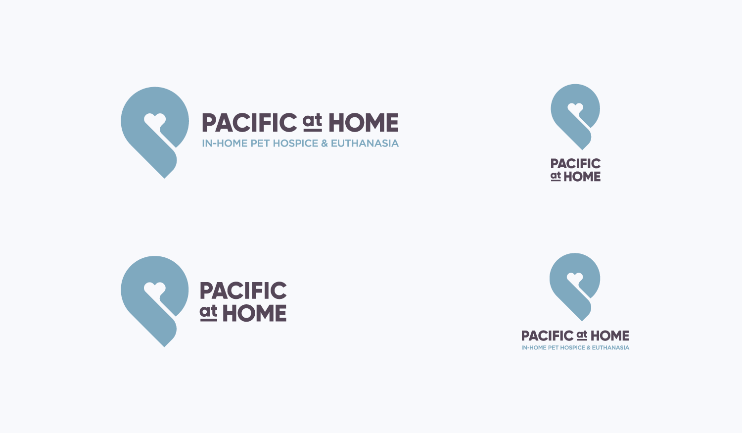 Pacific at Home visual identity logo lockups