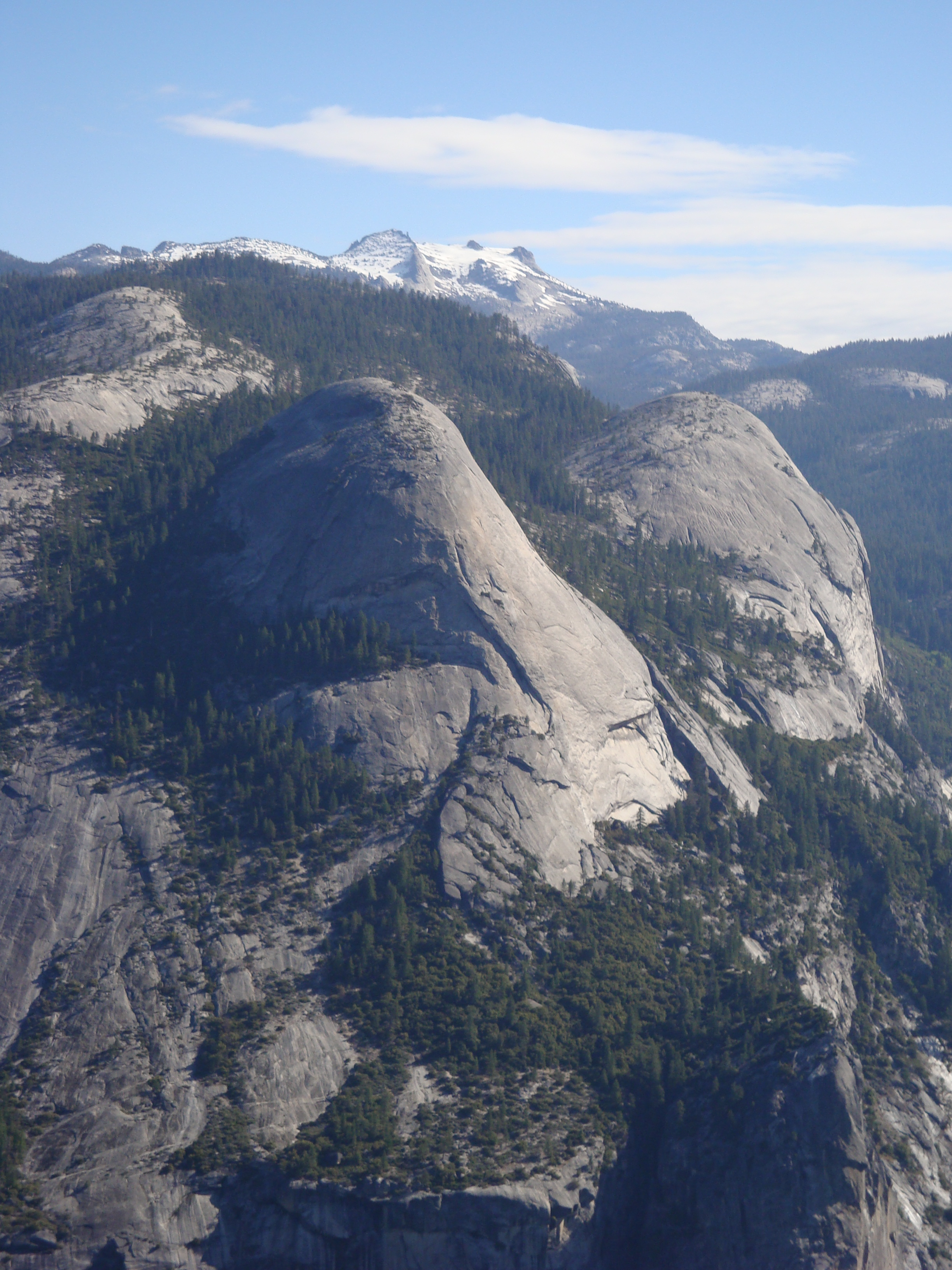 North Dome and Basket Dome - June 2008 - North Dome (left) and Basket Dome (right) as viewed from Glacier Point