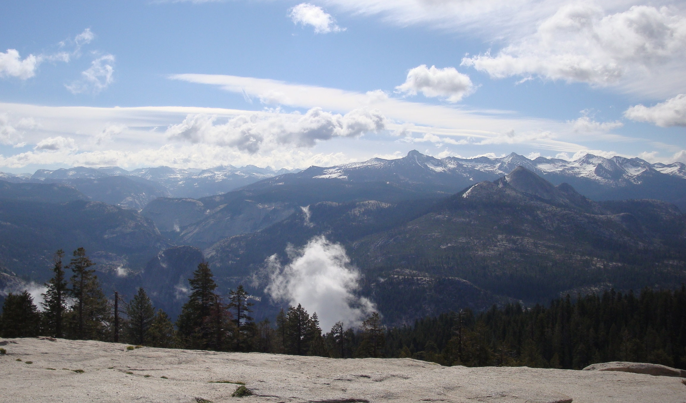 High Sierras - June 2008 - View of the high Sierras from Sentinel Dome.