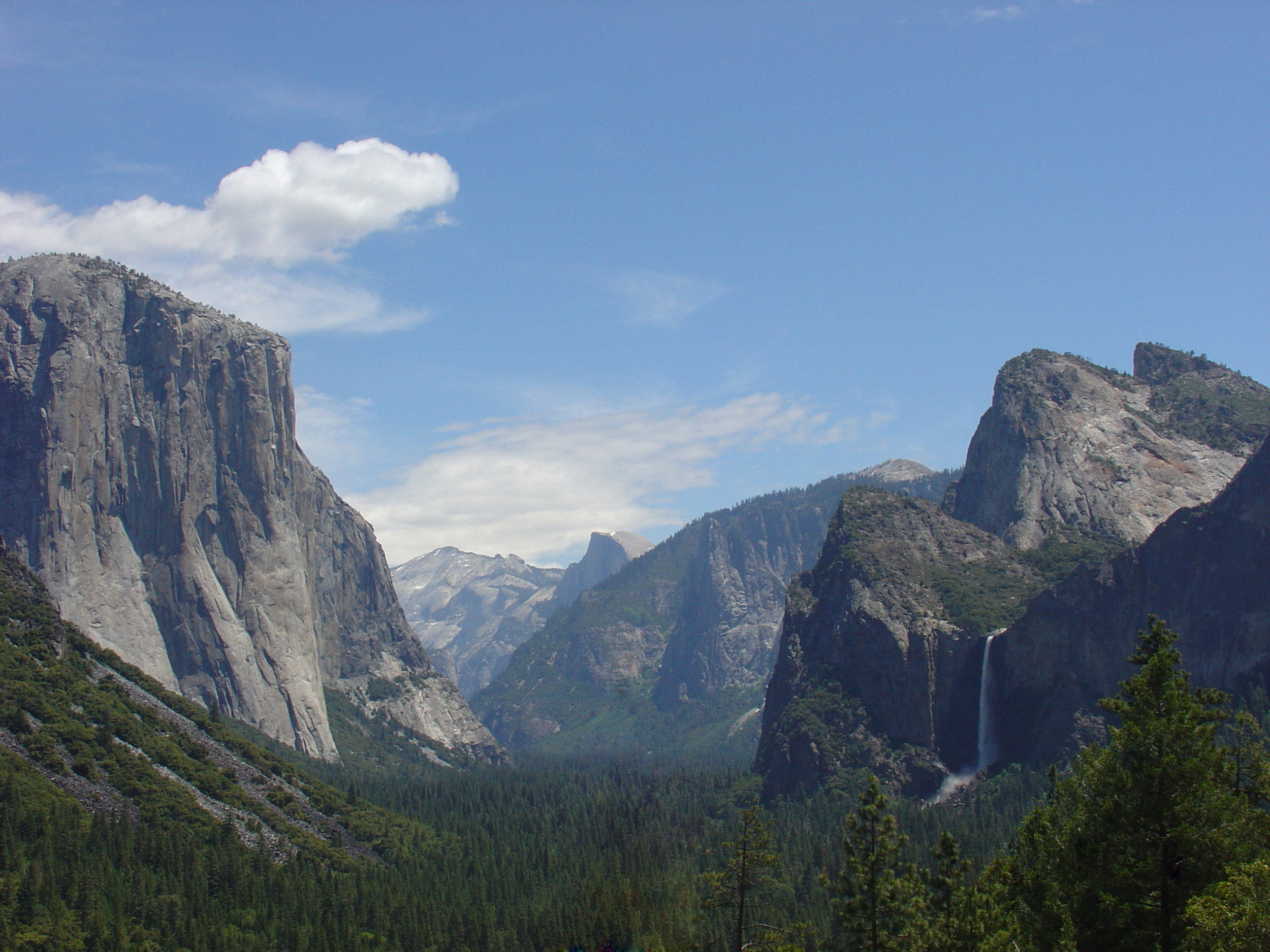 Yosemite Valley - June 2008 - Yosemite Valley from the Tunnel view on CA41. This is how it looked before the 5-year drought.