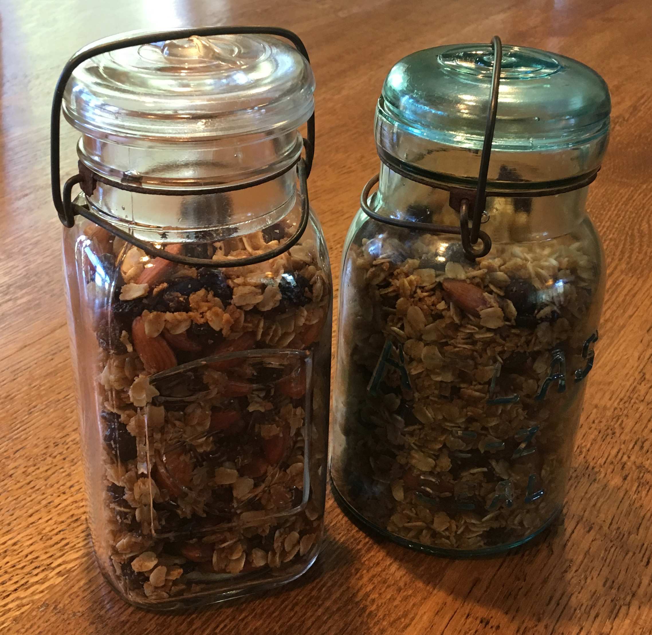 Toasted Almond Granola - Homemade, Vegan, and Gluten Free and often served with Fresh Organic Berries and Organic Greek Yogurt