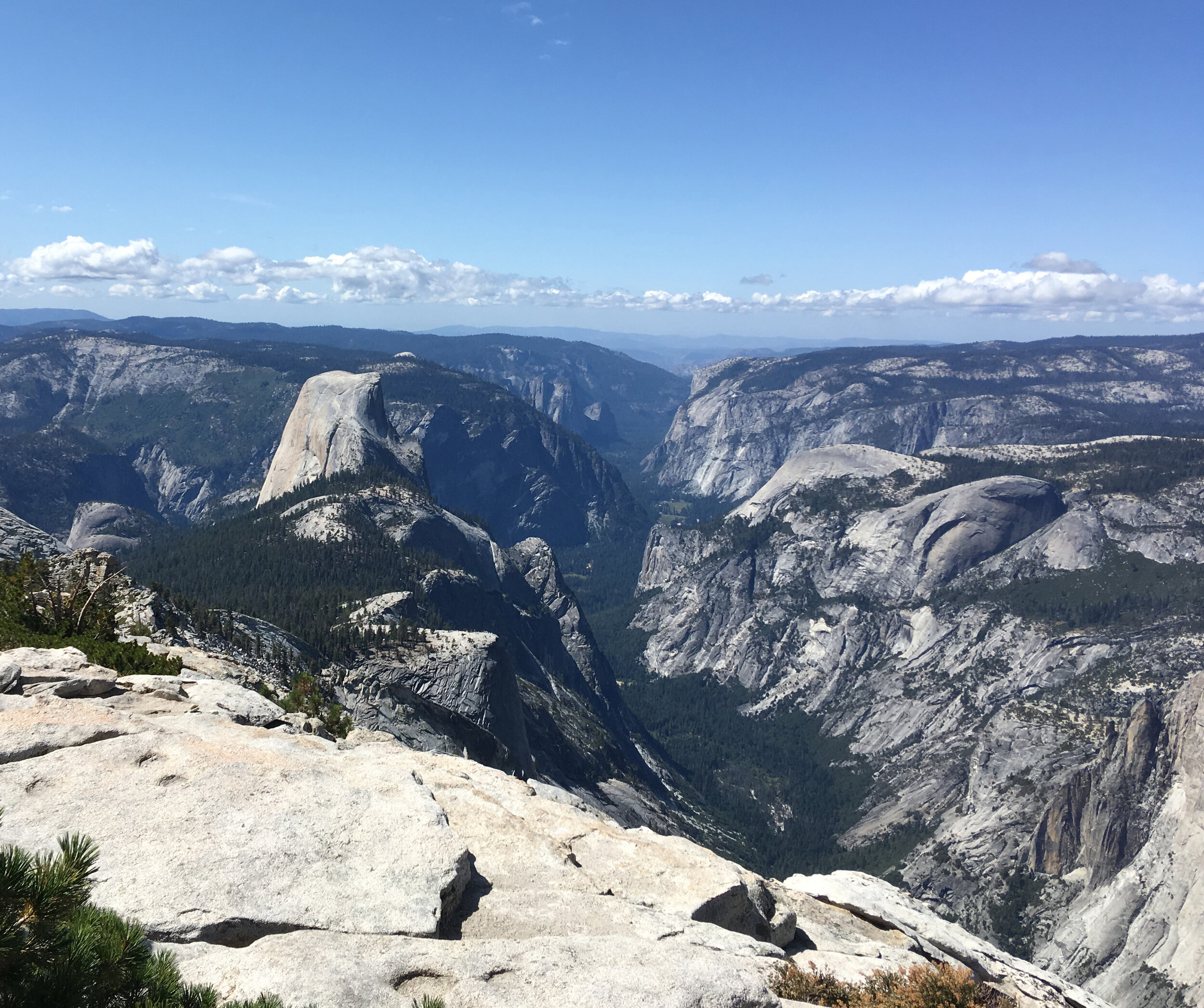 Half Dome and Yosemite Valley - September 2019 - As viewed from Clouds Rest. Glacier Point and Sentinel Dome are both visible in the background.