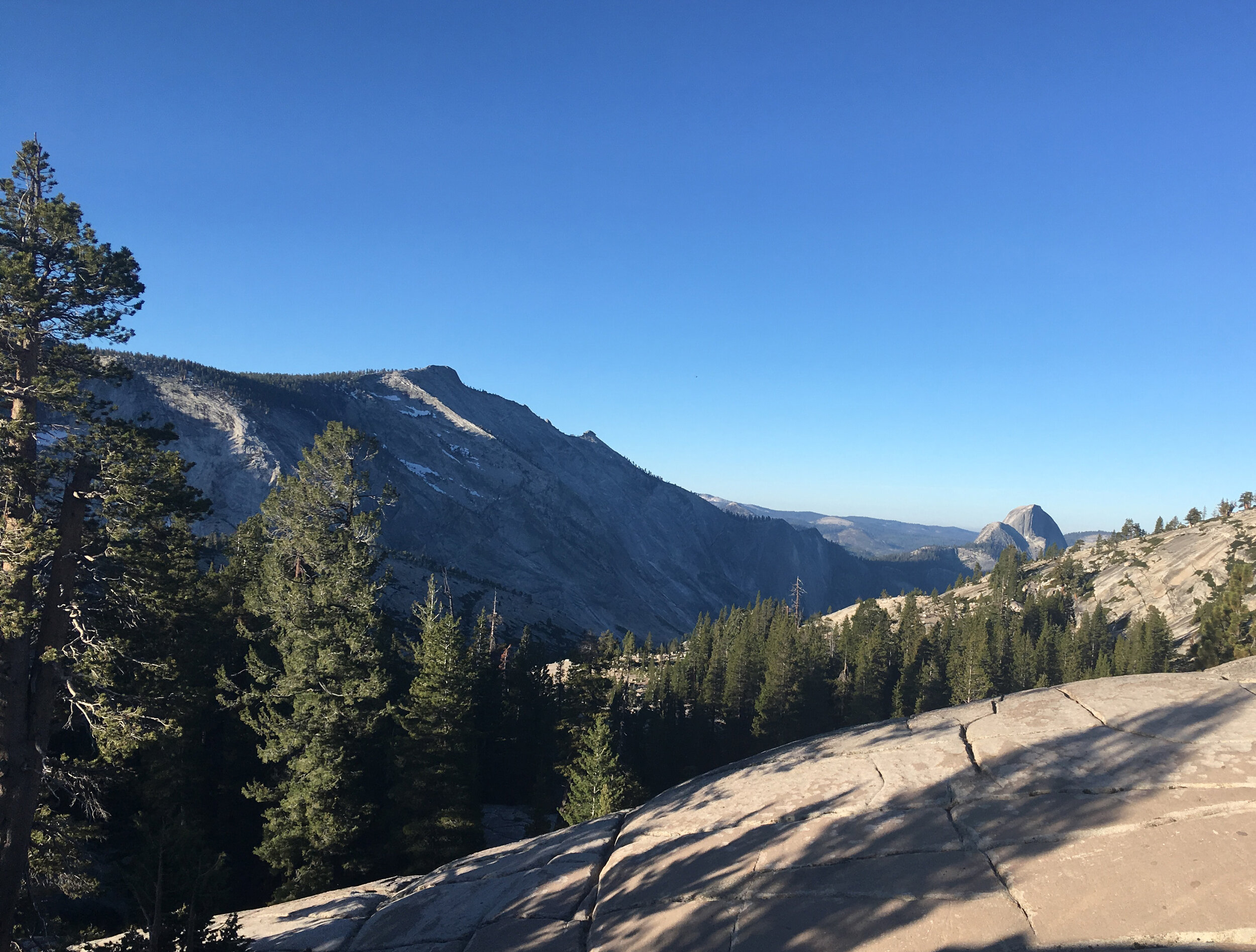 Clouds Rest and Half Dome - July 2019 - As viewed from Olmstead Point