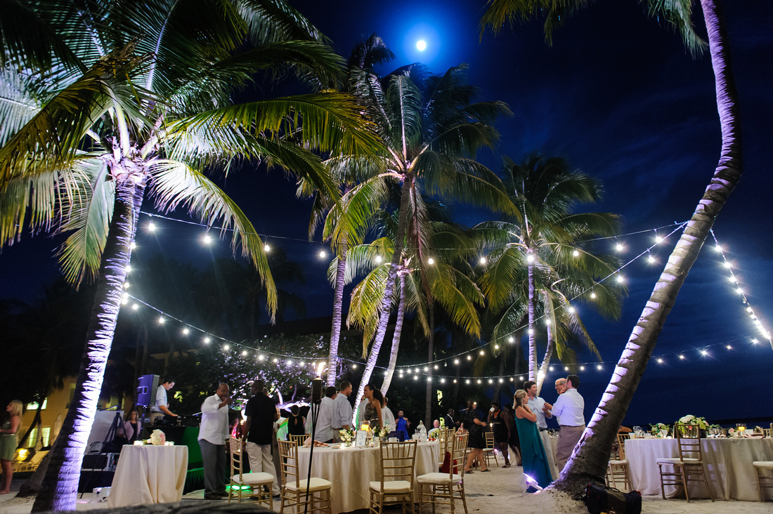 Key West Wedding Uplighting Casa Marina