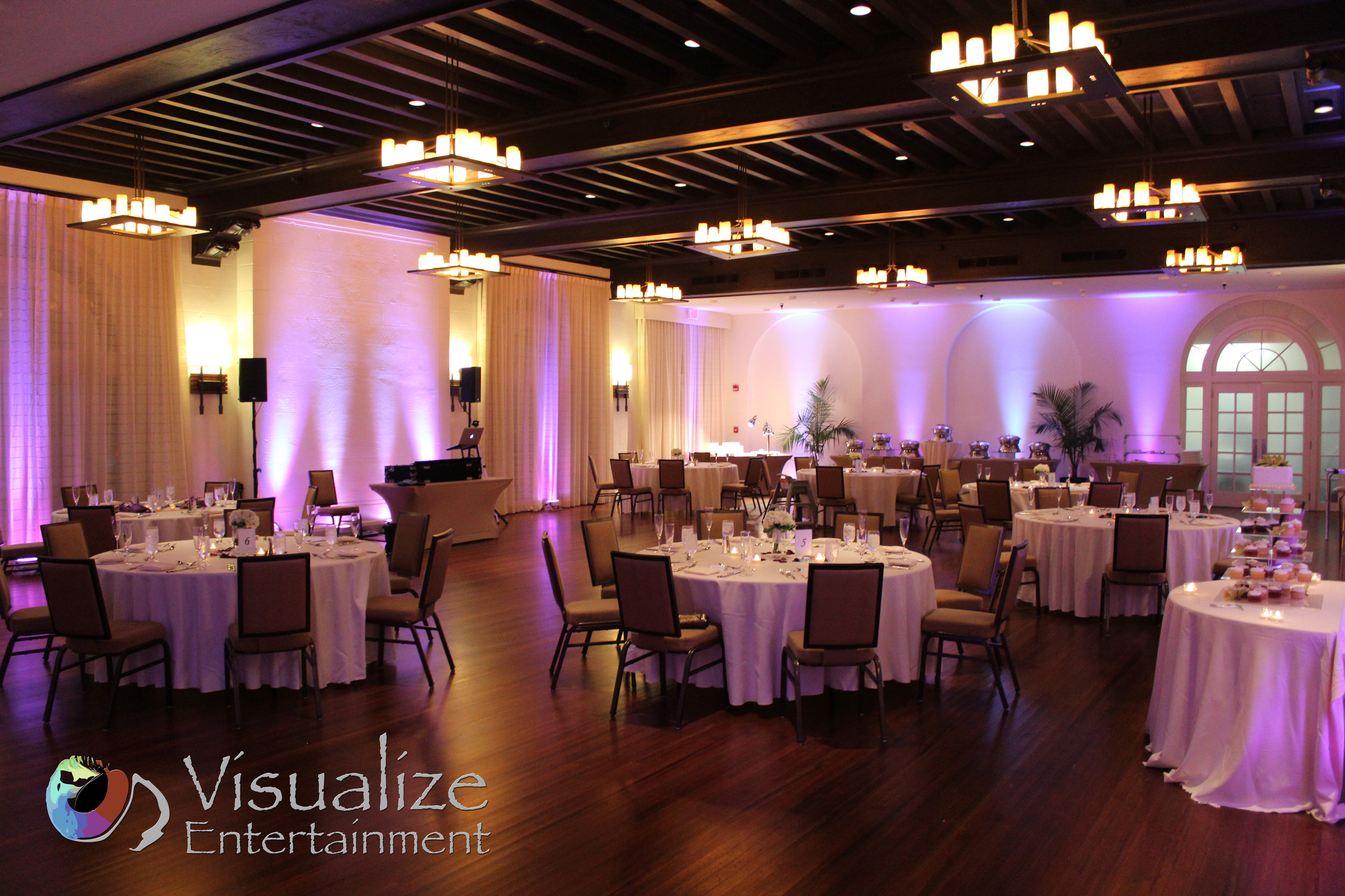 Casa Marina Uplighting Key West Wedding
