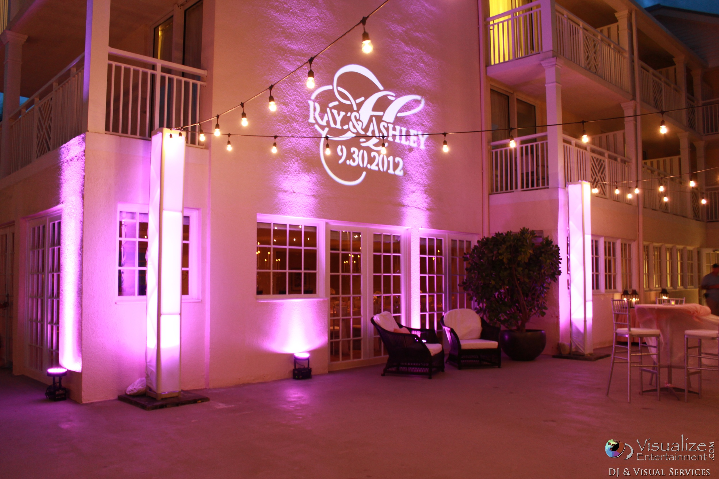 Reach Resort Key West Wedding Uplighting
