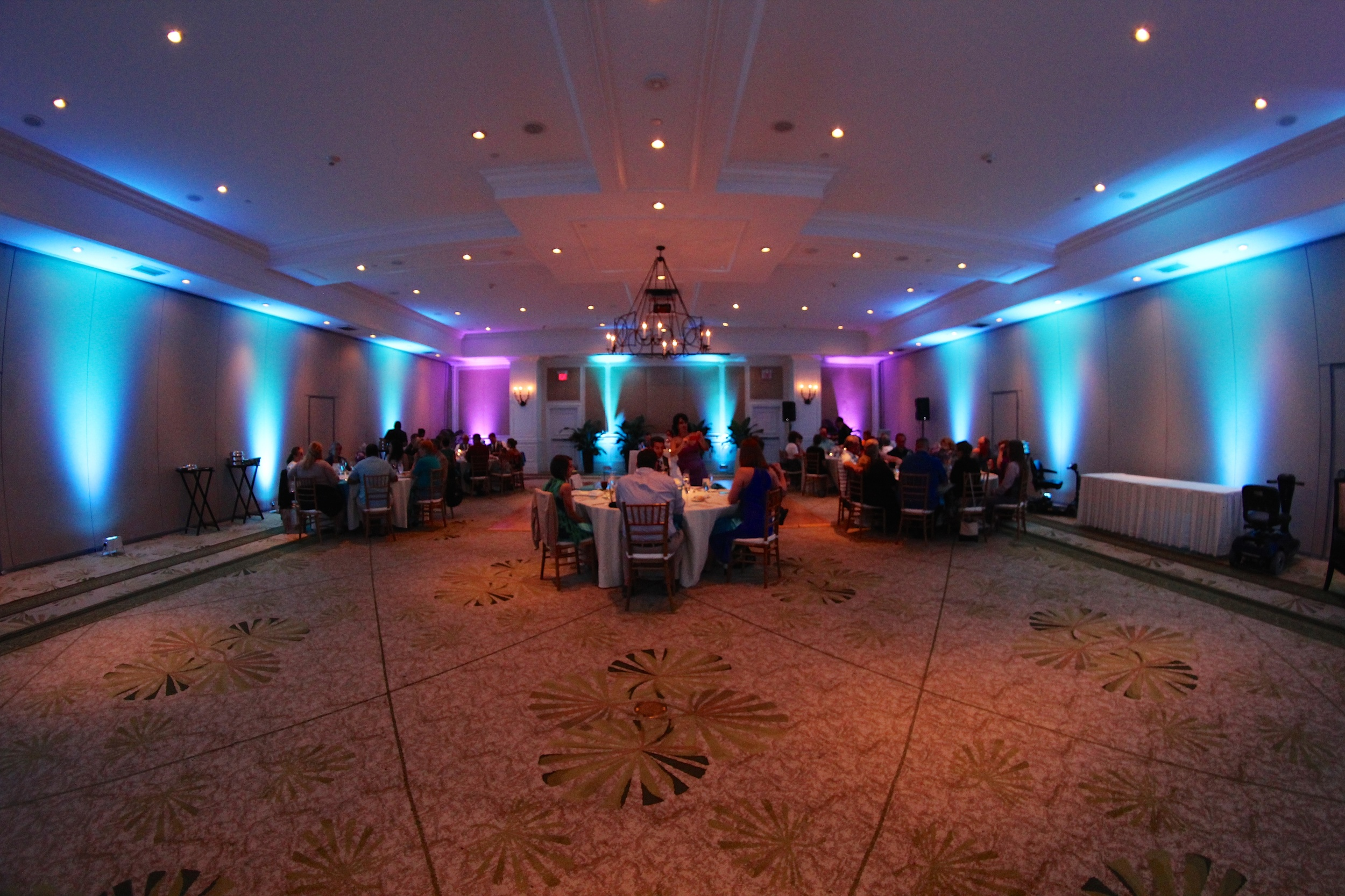 Marriott Beachside Key West Wedding Uplighting