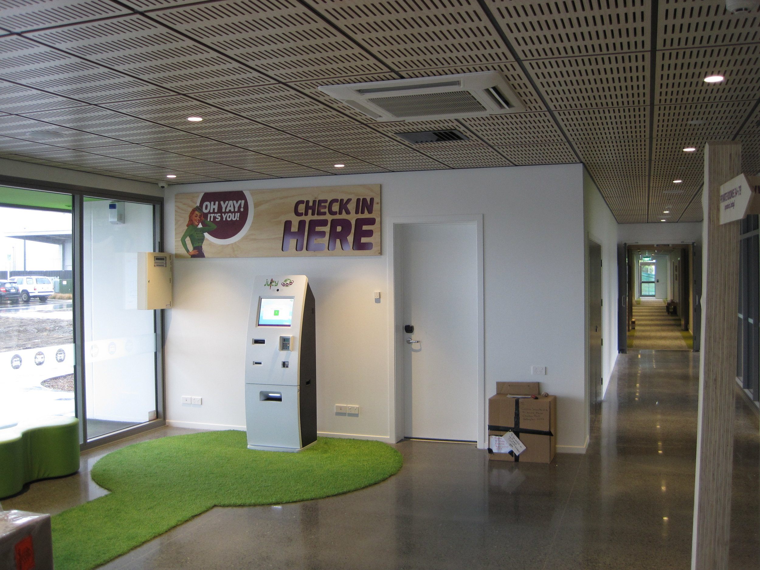 Jucy Snooze Christchurch Lobby Booking Space