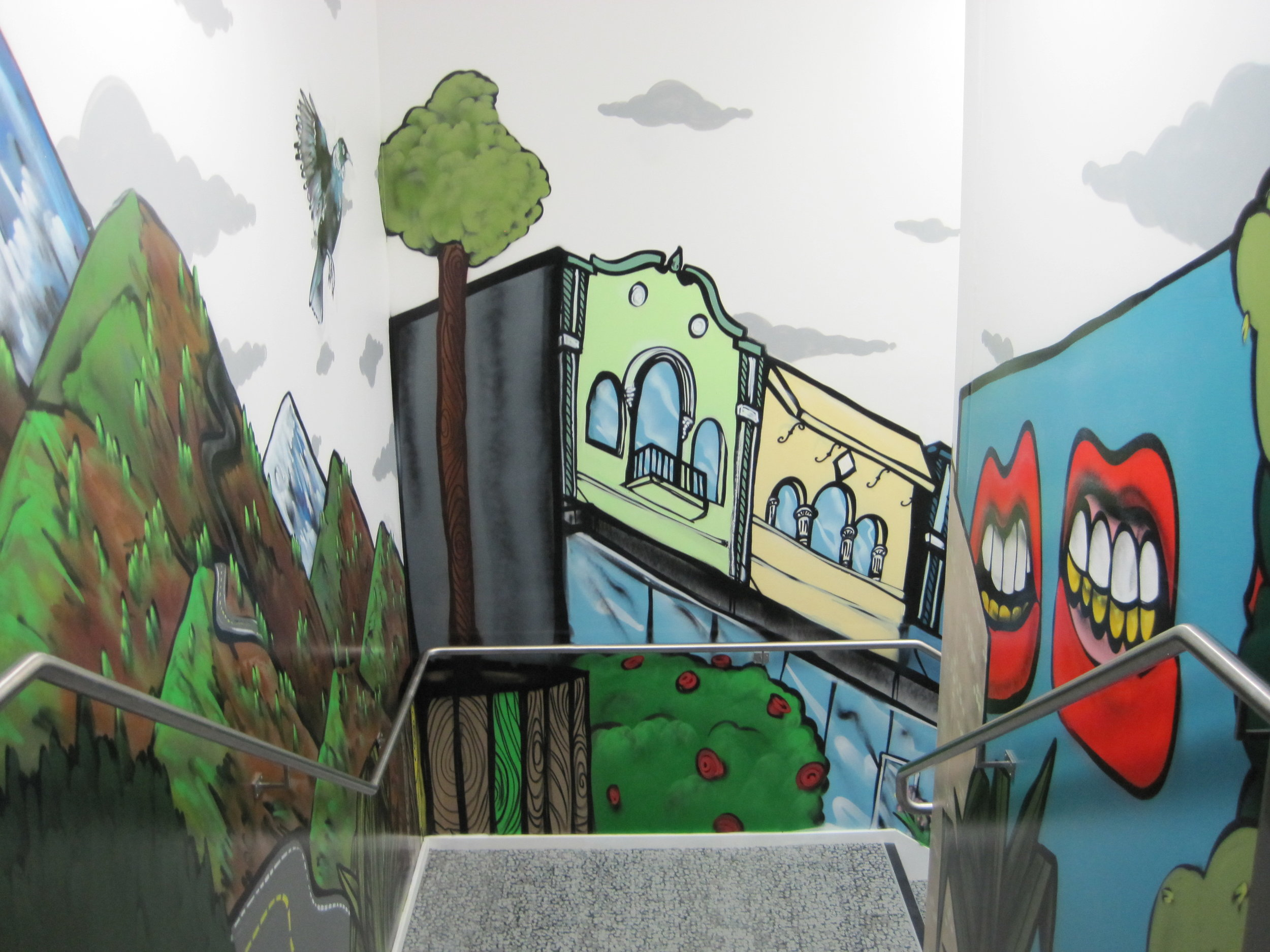 Jucy Snooze Stairwell Graphic