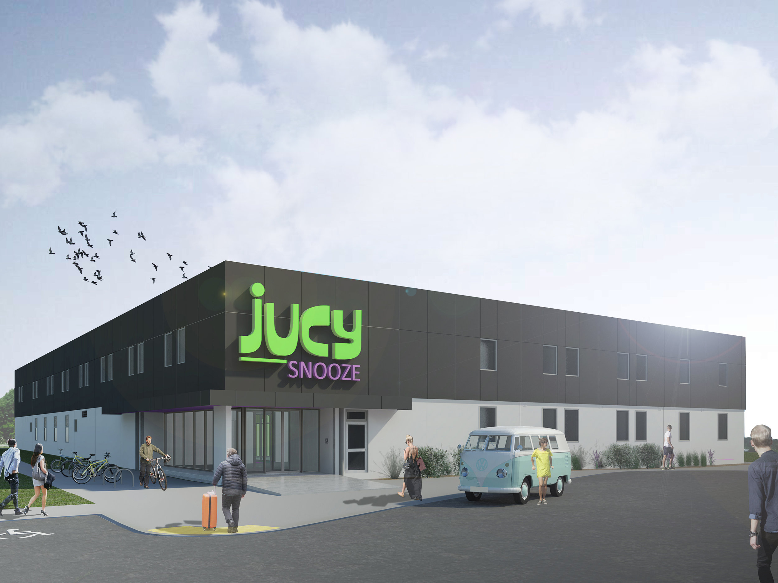 Jucy Snooze Christchurch Exterior Render