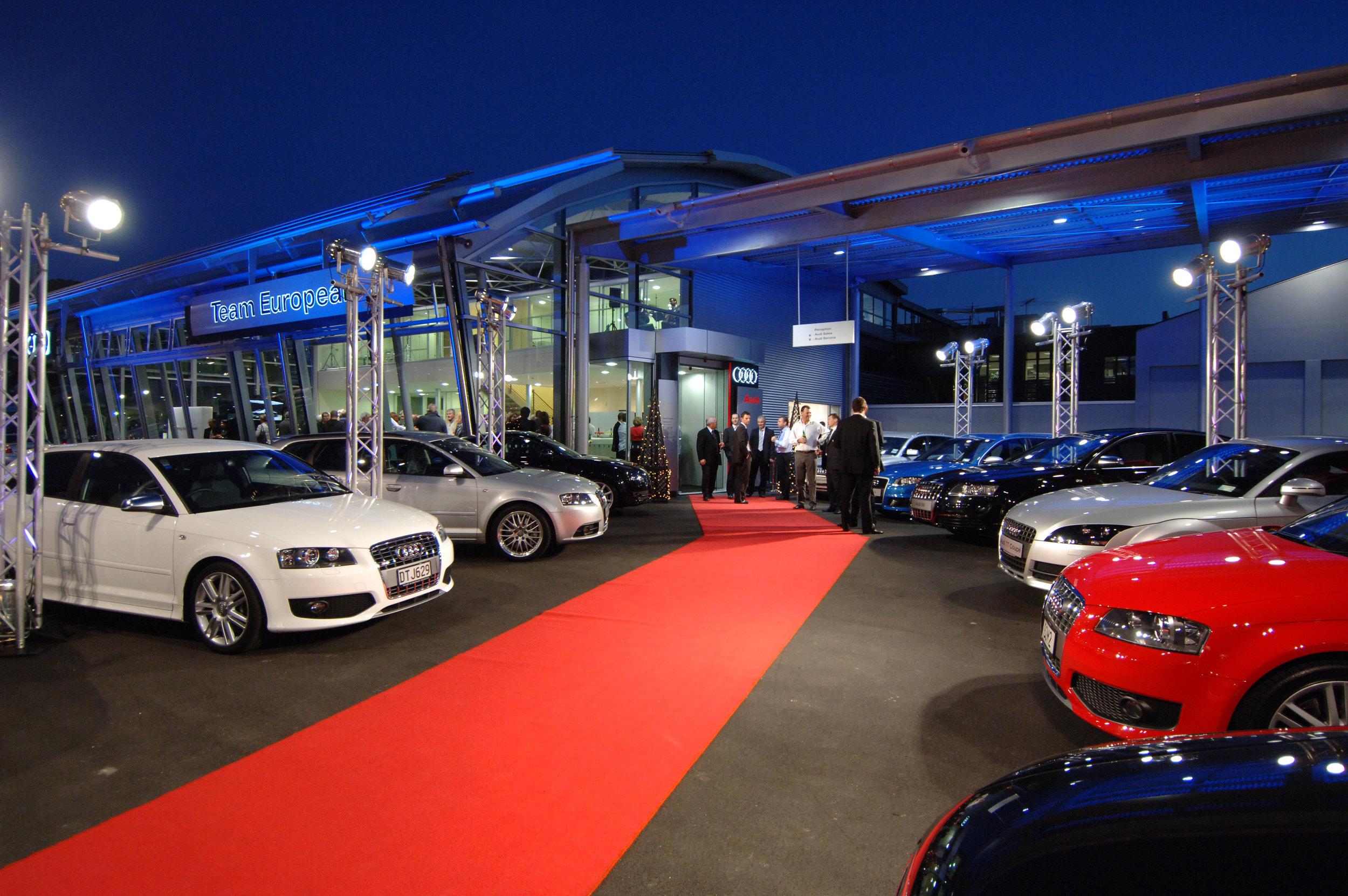 Armstrong Prestige AUDI Hanger Opening Night