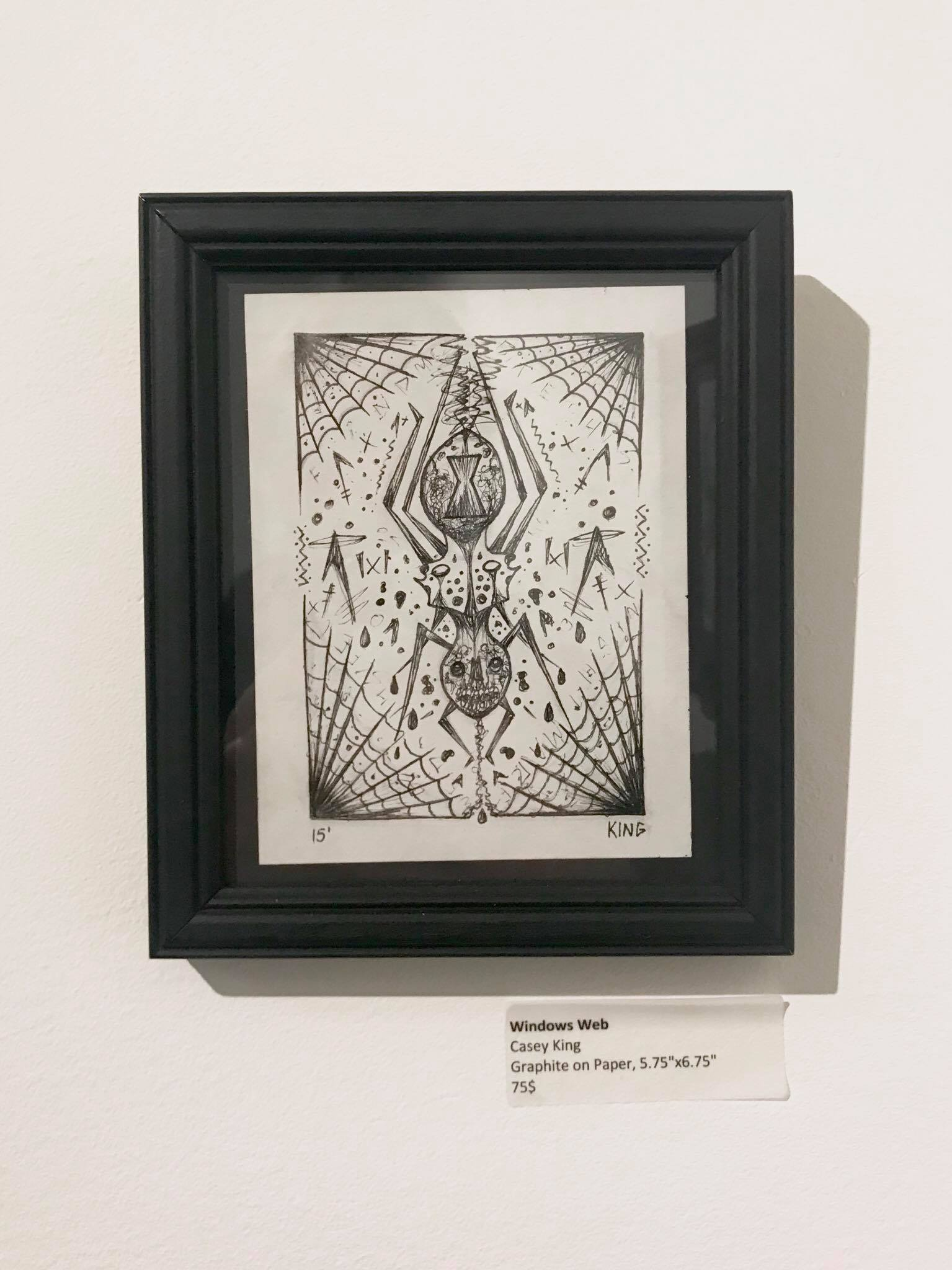 Widow's Web  Ink on paper 2015 $75  Purchase at:  http://aeongallery.bigcartel.com/p…/widows-web-by-casey-king