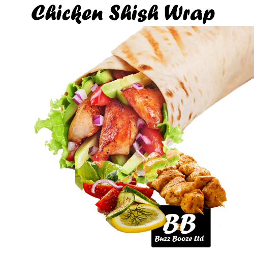 Chicken Shish Wrap Alcohol Delivery Cardiff