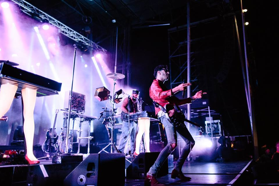 Chromeo performing at the Sunset Festival. Photo: lululemon